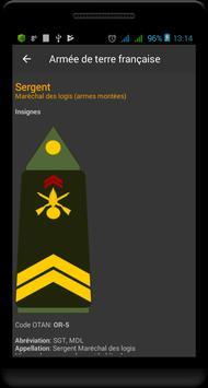 Grades militaires de la France capture d'écran 3