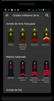 Grades militaires de la France Affiche