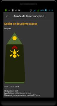 Grades militaires de la France capture d'écran 1