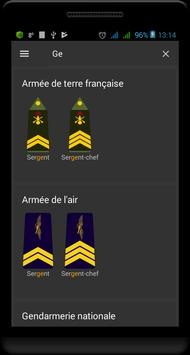 Grades militaires de la France capture d'écran 2