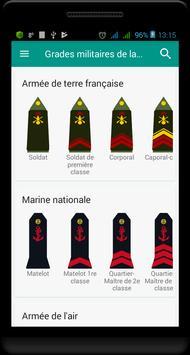 Grades militaires de la France capture d'écran 4