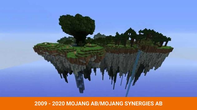 One block survival Minecraft maps. Map for MCPE poster