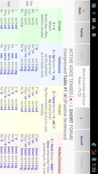 English Tenses Big Table screenshot 3
