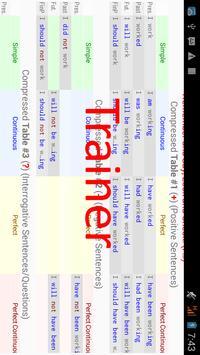 English Tenses Big Table screenshot 6