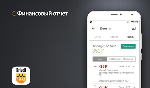 Taxi 7220 Водитель screenshot 7
