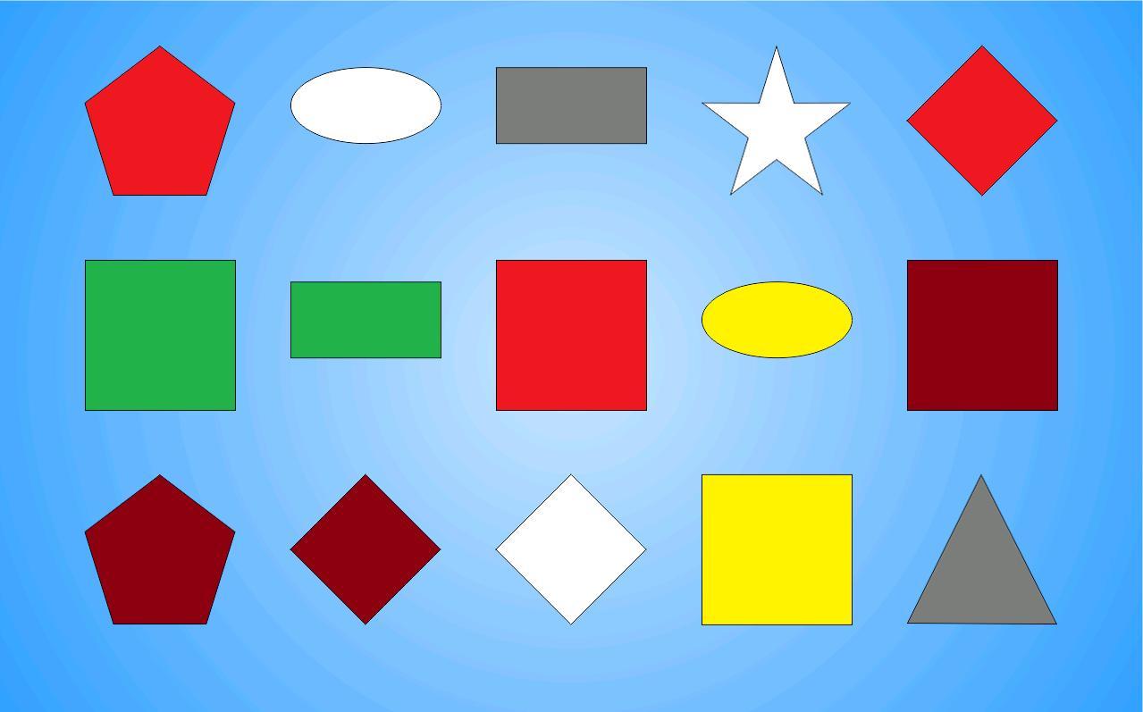 Картинки геометрические фигуры разного цвета