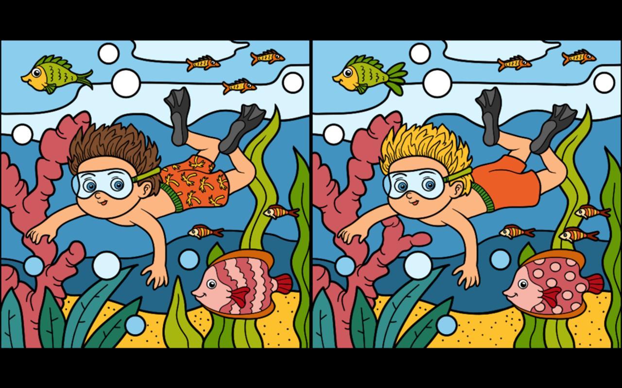 Найди отличия играть на двух картинках без времени с подсказками