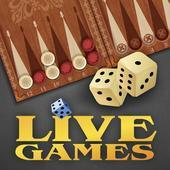 Backgammon LiveGames - live free online game icon