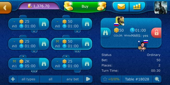 Backgammon LiveGames - live free online game screenshot 4