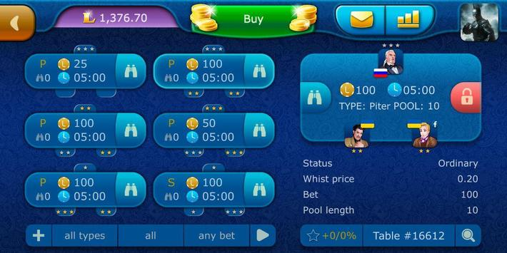 Preference LiveGames - free online card game screenshot 4