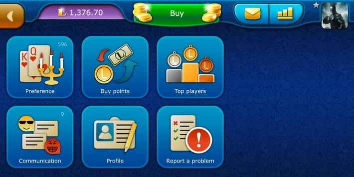 Preference LiveGames - free online card game screenshot 7