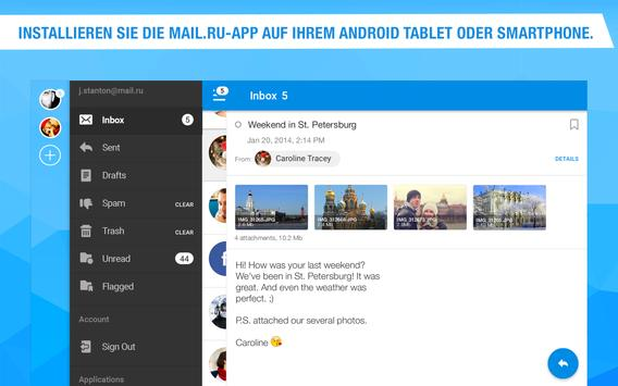 Mail.ru – E-Mail-App Screenshot 5