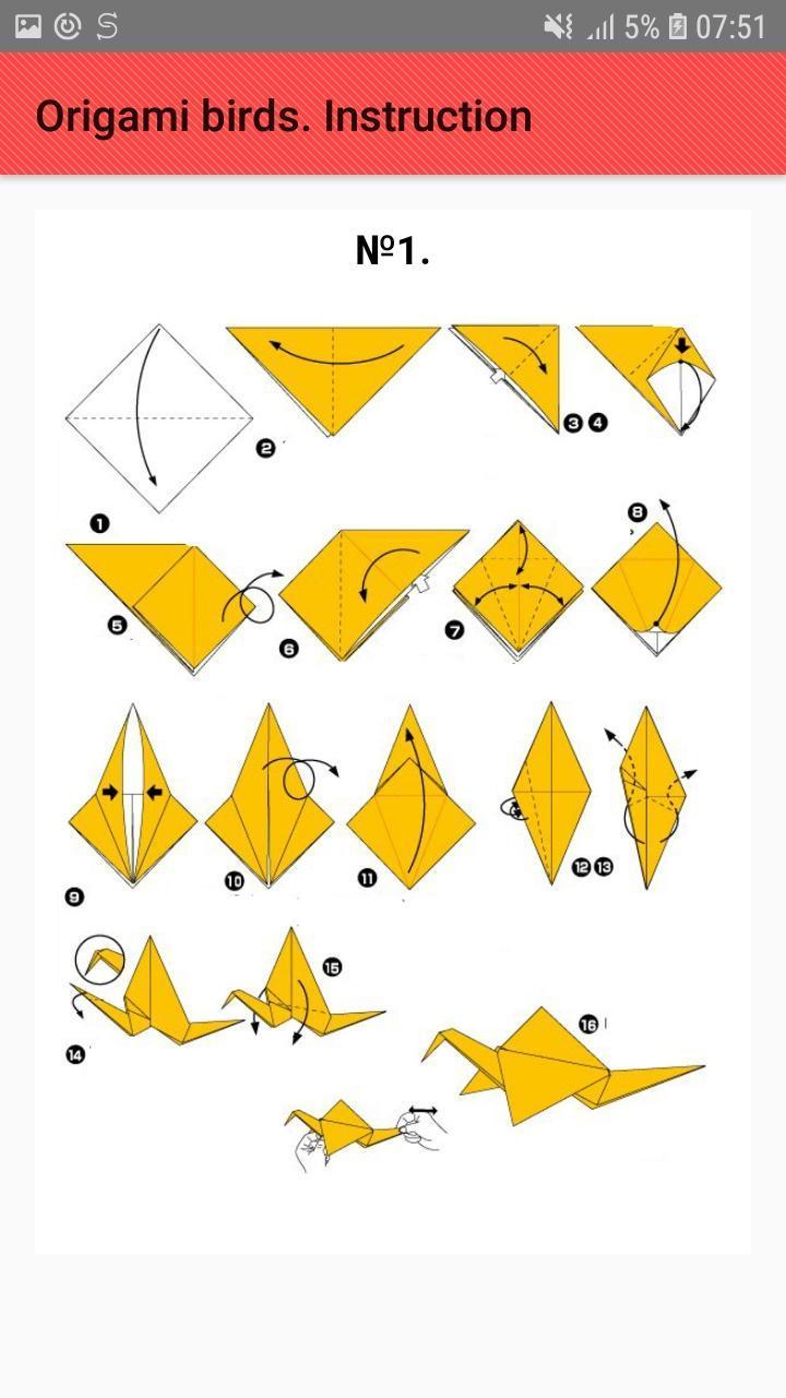 origami step by step crane | 1280x720
