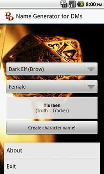 D&D Names Generator screenshot 4