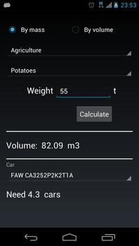 Calculator bulk materials screenshot 3