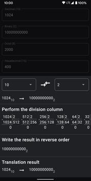 Calculator of number systems. Converter. Decision captura de pantalla 1
