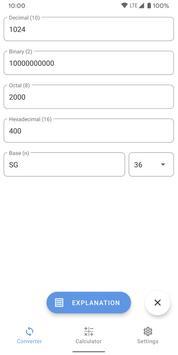 Calculator of number systems. Converter. Decision captura de pantalla 3