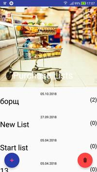 Party Shopping List poster