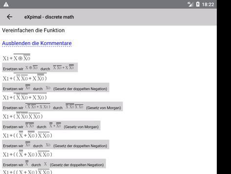 eXpimal - discrete math Screenshot 11