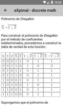 eXpimal - discrete math captura de pantalla 7