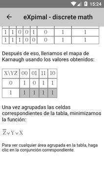eXpimal - discrete math captura de pantalla 6