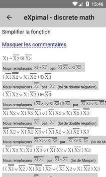 eXpimal - discrete math capture d'écran 4