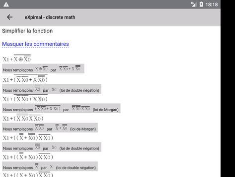 eXpimal - discrete math capture d'écran 12