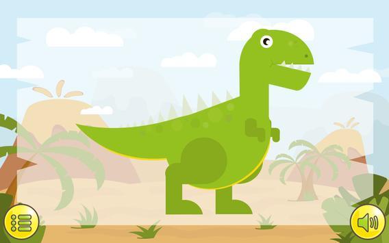 Dino  Çocuklar İçin Jigsaw Ekran Görüntüsü 1