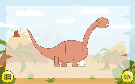 Dino  Çocuklar İçin Jigsaw Ekran Görüntüsü 21