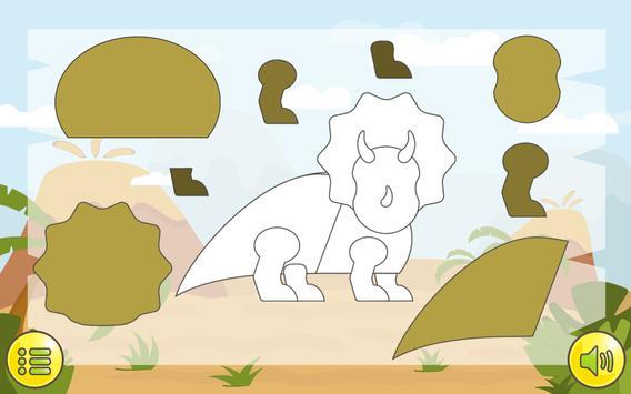 Dino  Çocuklar İçin Jigsaw Ekran Görüntüsü 23