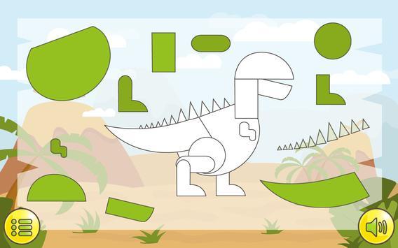 Dino  Çocuklar İçin Jigsaw Ekran Görüntüsü 8