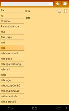 English Maori dictionary screenshot 16