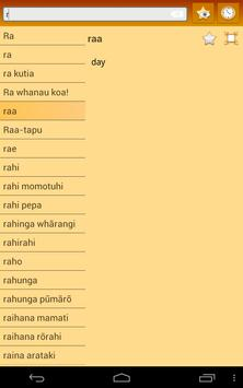 English Maori dictionary screenshot 10