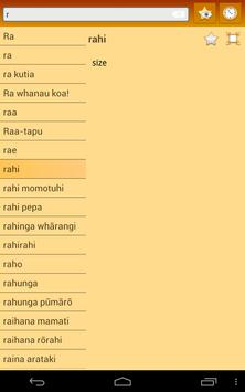 English Maori dictionary screenshot 11