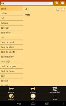 English Romany Dictionary screenshot 8