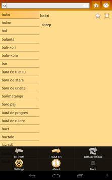 English Romany Dictionary screenshot 13