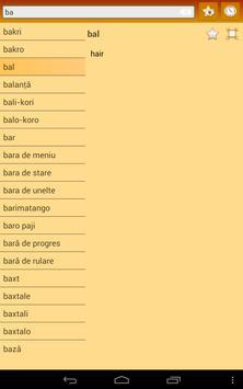 English Romany Dictionary screenshot 14