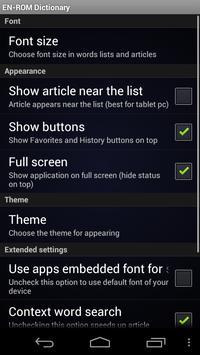 English Romany Dictionary screenshot 2