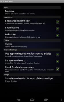 English Sicilian Dictionary screenshot 12
