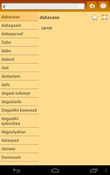 English Somali dictionary screenshot 15