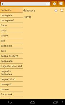 English Somali dictionary screenshot 10
