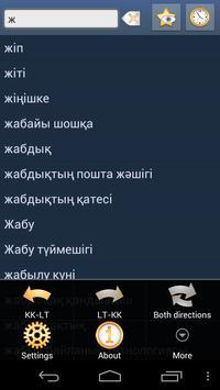 Kazakh Lithuanian Dictionary poster
