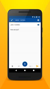 Write SMS by voice screenshot 3