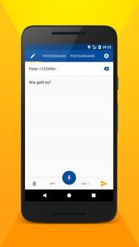 Schreiben Sie eine SMS mit Stimme Plakat