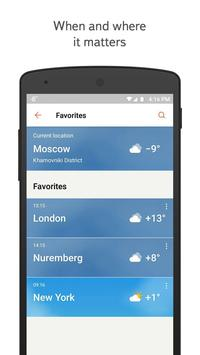 Yandex.Weather imagem de tela 1