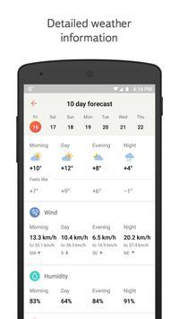 Yandex.Weather imagem de tela 2