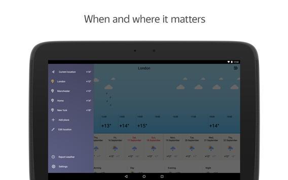 Yandex.Weather imagem de tela 9