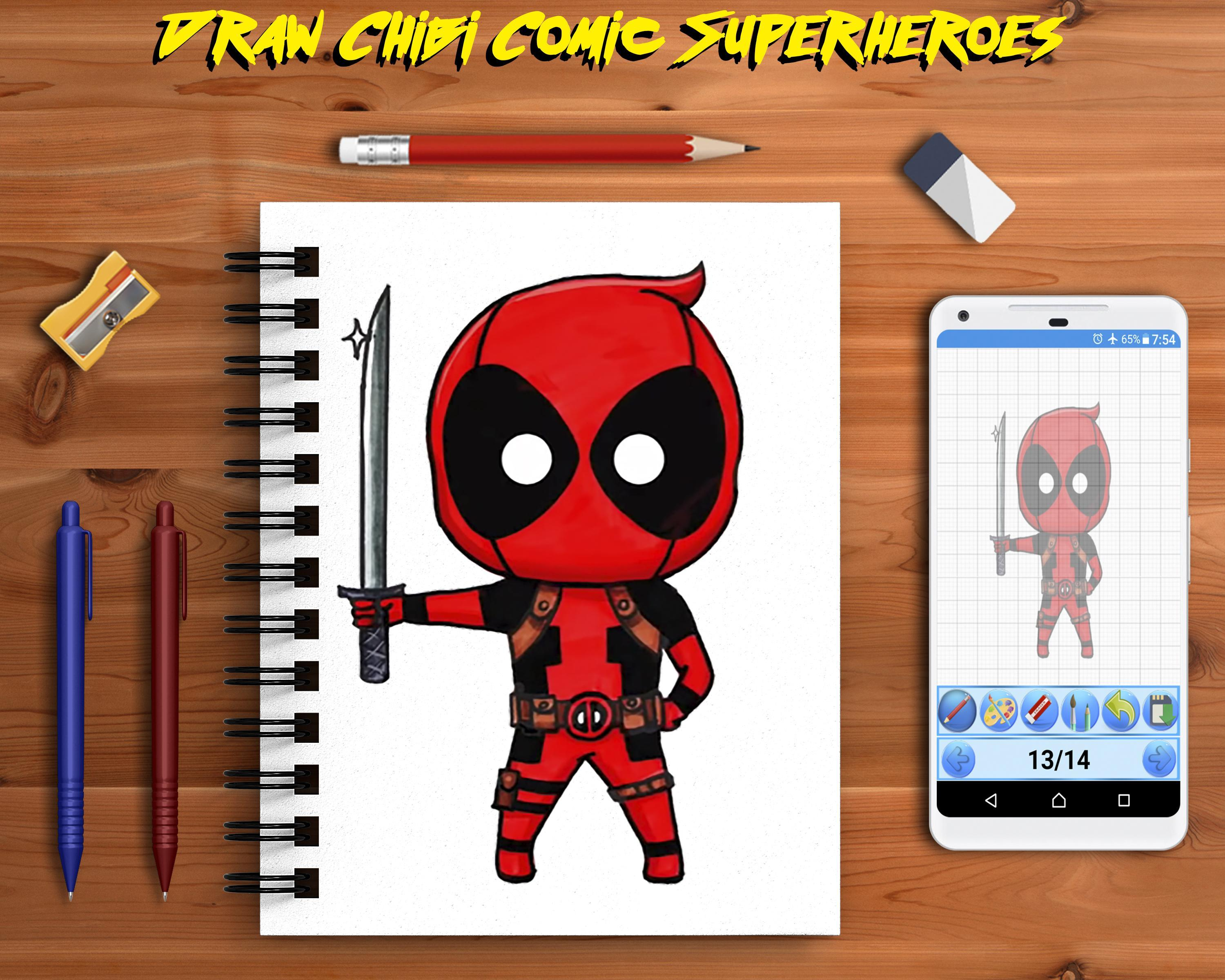 Learn To Draw Chibi Cute Superheroes Step By Step For Android Apk Download
