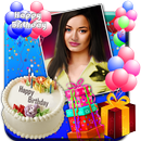 Birthday Greeting Cards Maker: photo frames, cakes APK Android