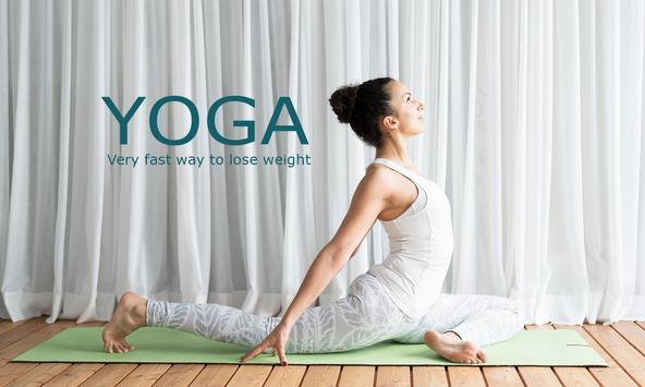 Iniciantes de ioga - exercícios para perder peso Cartaz